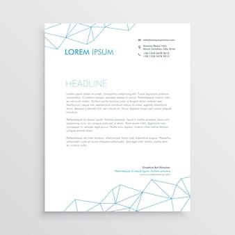Minimale Briefkopf-Design-Vorlage mit Linien-Array