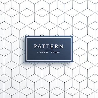 Minimaler geometrischer Linienmusterhintergrund in hexagonaler Form
