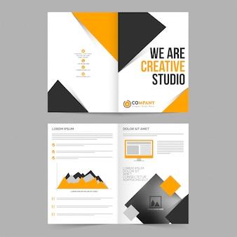 Minimales stationäres gelbes Werbebriefpapier