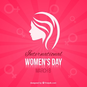 Minimalist Frauentag Karte