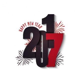 Minimalist Hintergrund mit roten Details für neues Jahr