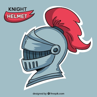 Mittelalterlicher Helm mit handgezeichneten Stil