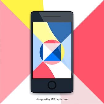 Mobile Tapete mit modernen geometrischen Formen