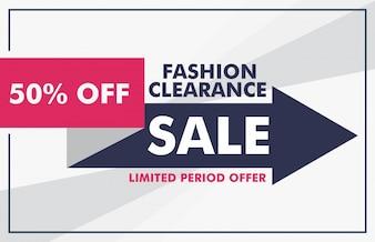 Mode Verkauf Banner Design mit Pfeil Vorlage