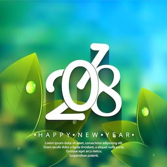 Modern 2018 Neujahr Hintergrund