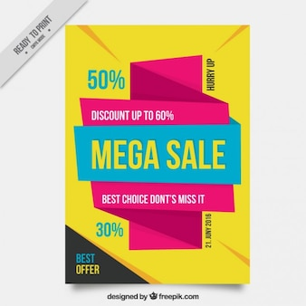 Modern und abstrakt Verkauf Flyer