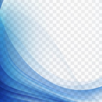 Moderne blaue Wellenlinie Hintergrund
