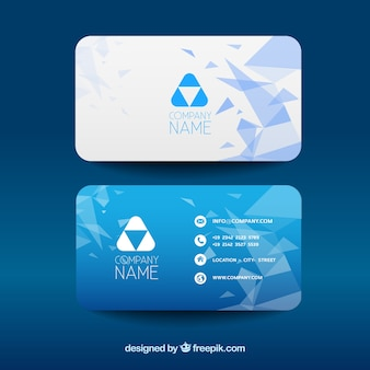 Moderne Firmenkarte