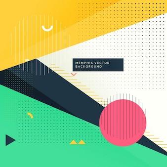 Moderne funky Hintergrund in memphis Stil
