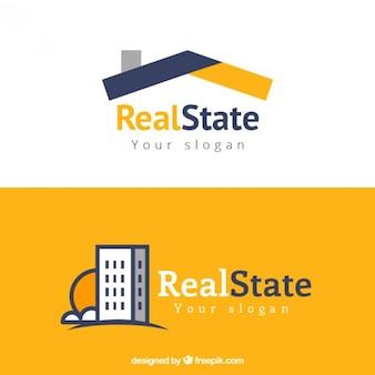 Moderne Immobilien Logos