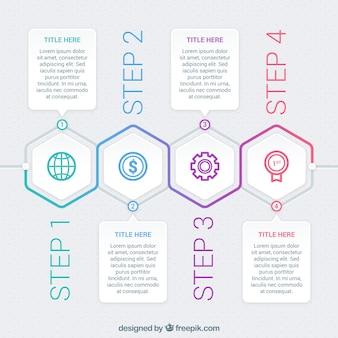 Moderne Infografik mit verschiedenen Phasen