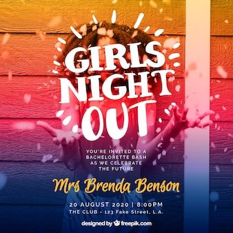 Moderne Mädchen-Party Einladung