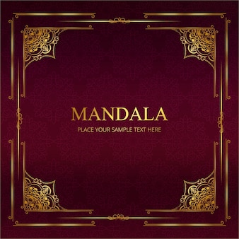 Moderne Mandala Hintergrund