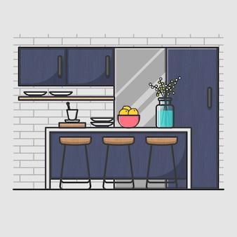 Moderne, minimale Küche