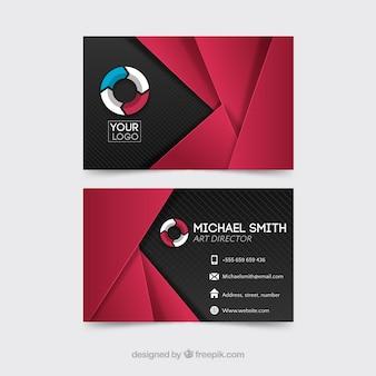 Moderne polygonale Firmenkarte