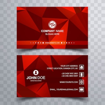 Moderne rote Visitenkarte