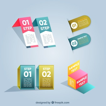 Moderne Sammlung von Infografik-Elemente