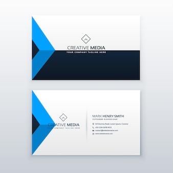 Moderne saubere Visitenkarte Vektor-Design-Vorlage