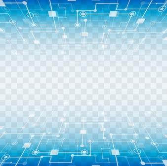 Moderne technologische Elemente mit transparentem Hintergrund