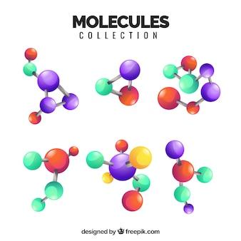 Moderne Vielfalt realistischer Moleküle