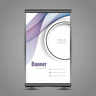 Moderne wellenförmige Roll-up-Banner-Design
