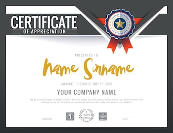 Moderne Zertifikat Dreieck-Form-Hintergrund-Rahmen-Design-Vorlage