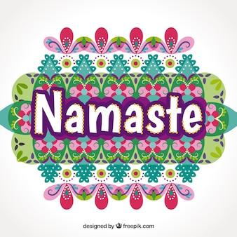 Moderner Namaste-Hintergrund