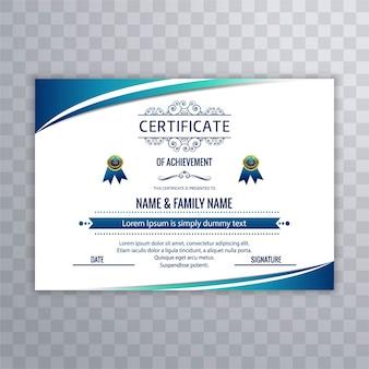 Moderner Zertifikat Hintergrund