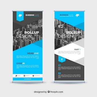Modernes Roll-up-Design für neue Unternehmen