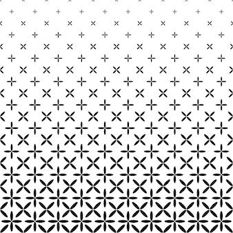 Monochrome abstrakte Ellipse Muster Hintergrund - schwarz und weiß geometrische Vektor-Grafik