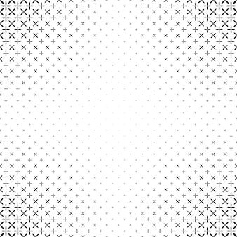 Monochrome Stern Muster - Vektor Hintergrund Grafik