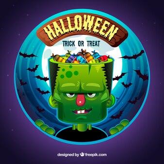 Monster Hintergrund mit Süßigkeiten