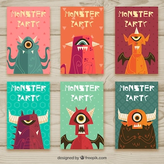 Monster-Party Einladung