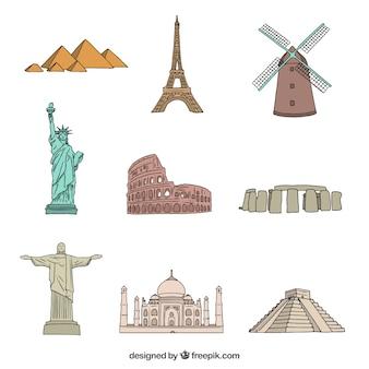 Monumente auf der ganzen Welt