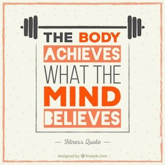 Motivation sportlich Schriftzug