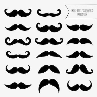 Movember Schnurrbart Sammlung