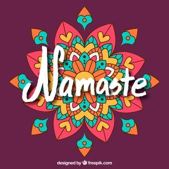 Multicolor Namaste Hintergrund