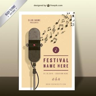 Musik-Festival-Plakat