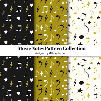 Musik Noten Muster Sammlung