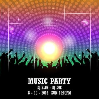 Musik-Party-Plakat