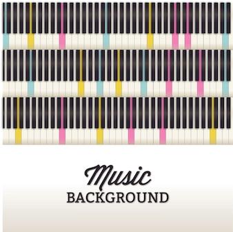 Musikabbildung mit Klaviertastatur