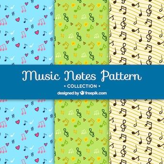 Musikalische Muster Hintergrund