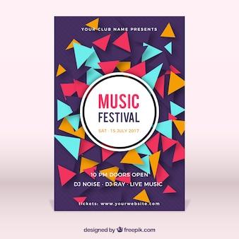 Musikfestival Plakatvorlage