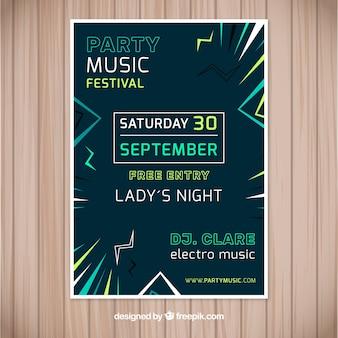 Musikfestival Poster mit abstraktem Stil