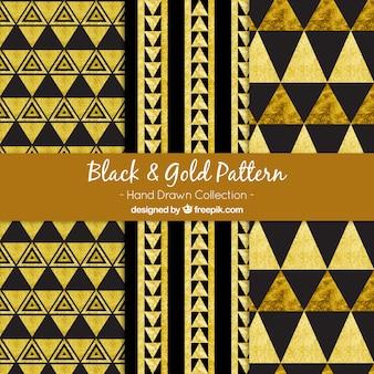 Muster der goldenen Dreiecke