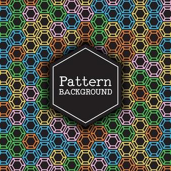 Muster Hintergrund mit einem Hexagon-Design