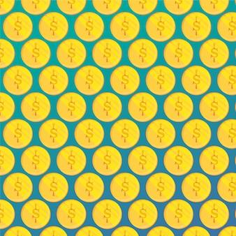 Muster Illustration mit Münzen