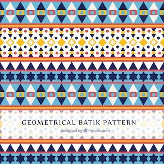 Muster in Batik-Stil mit geometrischen Formen
