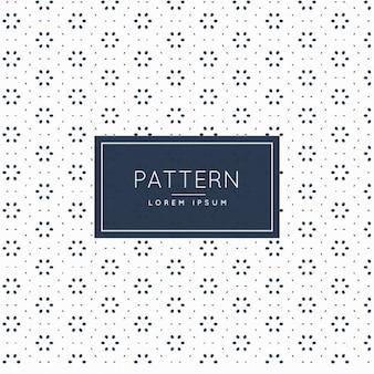 Muster mit Kreisen und floralen Formen