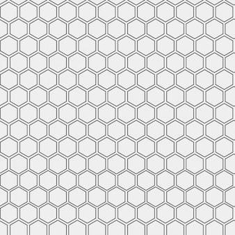 Muster mit skizziert Sechsecke